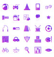 toy gradient icons on white background vector image