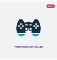 two color video game controller icon from vector image vector image