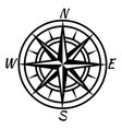 vintage compass retro nautical marine mapping vector image vector image