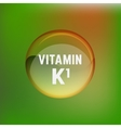 Vitamin K1 02 A vector image vector image