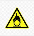 warning sign vector image vector image
