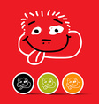 Funny Face on Red Background vector image
