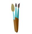 artistic brushes cartoon vector image