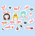 fashion patch badges social networks and mobile vector image