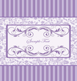 purple damask invitation card vector image