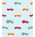 Seamless pattern with paper cars vector image