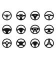steering wheel icons set vector image