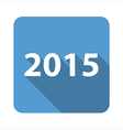2015 flat icon vector image vector image