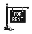 a sign on the pole for rentrealtor single icon in vector image vector image