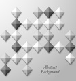 Abstract black white square background vector image vector image