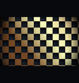 abstract gold and black grid pattern in luxury vector image