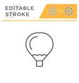 air balloon editable stroke line icon vector image