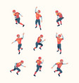 american football players isometric persons vector image vector image