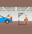 automotive technician at work vector image
