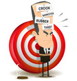 bankster punishment with dartboard vector image