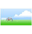 Bicycle propped near the bench vector image vector image