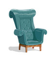 big leather armchair vector image