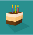 birthday cupcake card vector image vector image