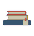 books piled up vector image