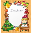 boy letter to snata vector image