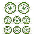cannabis stamps vector image vector image