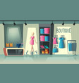 clothing shop interior fashion boutique vector image vector image