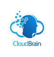 cloud brain digital human logo concept design vector image