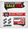 Collection of black friday web tag banner vector image vector image