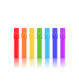 colorful realistic markers set isolated on white vector image vector image
