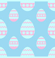 colorful seamless pattern of sweet easter eggs on vector image