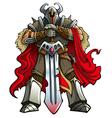Crusader knight vector image vector image