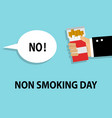 day refusal cigarettes and smoking vector image