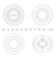 Decorative guilloche rosettes vector image vector image