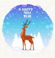 deer holidays vector image vector image