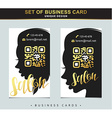 Design Template business card for beauty salon