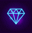 diamond neon sign vector image