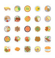 dishes flat icons pack vector image