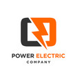 electric logo initials o vector image