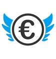 Euro Angel Investment Flat Icon vector image vector image