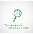 Find real estate vector image vector image