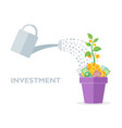 flat style investment with vector image