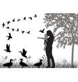 flock ducks vector image vector image