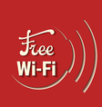 free zone wi-fi vector image vector image