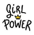 girl power lettering phrase for postcard banner vector image vector image
