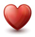 Glassy Heart Symbol vector image vector image