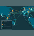 global network cable connections and information vector image