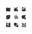 global warming black glyph icons set on white vector image