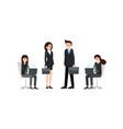 group of business people in suits vector image vector image