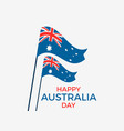 happy australia day 26th january greeting card vector image