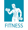 Healthy lifestyle design Fitness couple and vector image vector image
